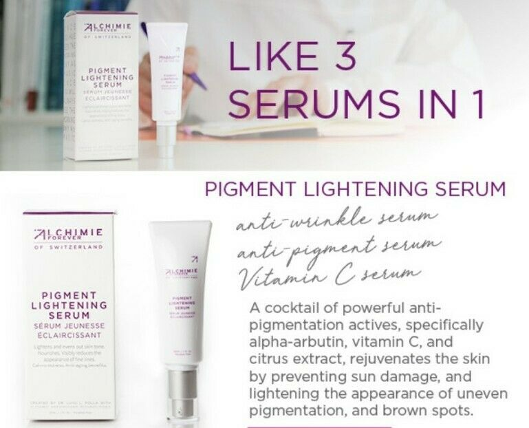 Alchimie's 3-in-1 Pigment Lightening Serum with Vitamin C and Hyaluronic Acid