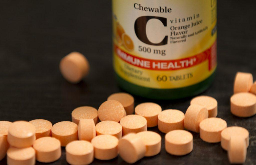 Bottle of Vitamin C Tablets